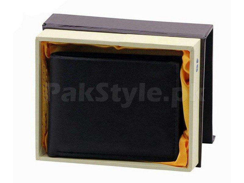 Stylish Synthetic Black Leather Wallet