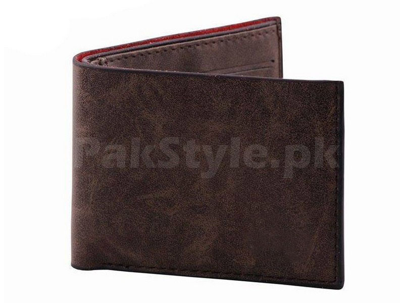 Stylish Synthetic Brown Leather Wallet