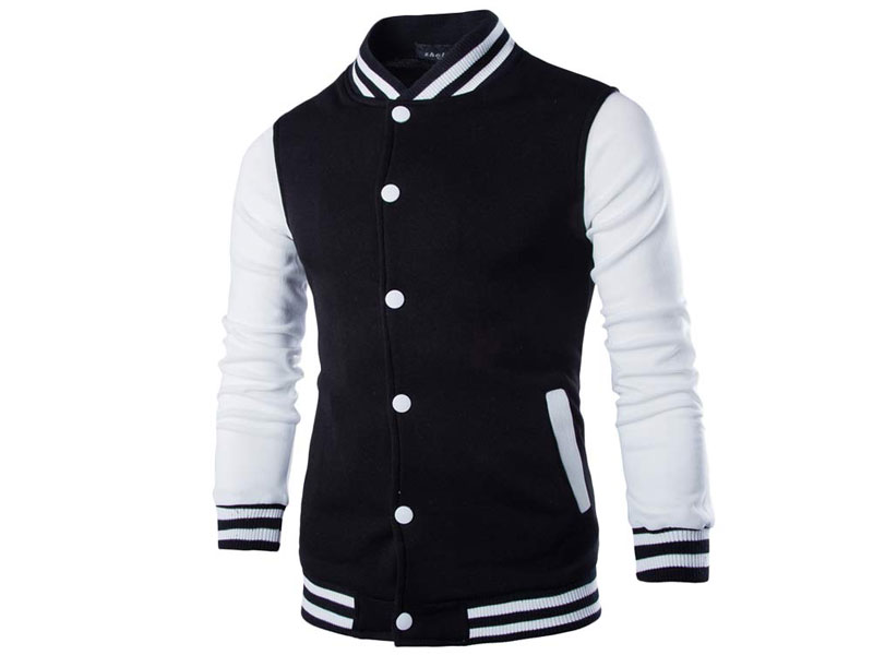 Men's Baseball Jacket - Black