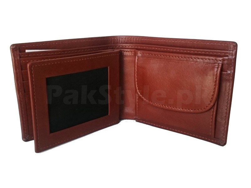 Men's Leather Wallet with Coin Pocket in Pakistan