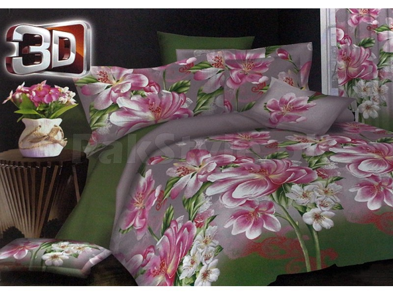 3D Poly Cotton Bed Sheet Price In Pakistan (M005377 .