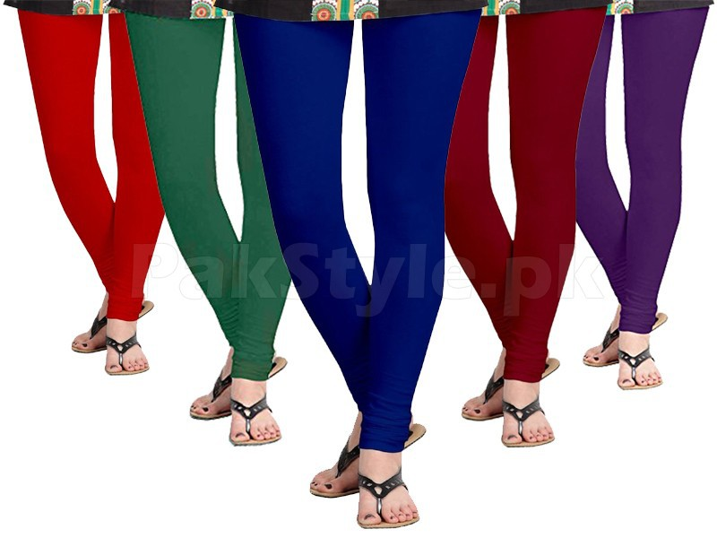5 Women's Cotton Lycra Leggings