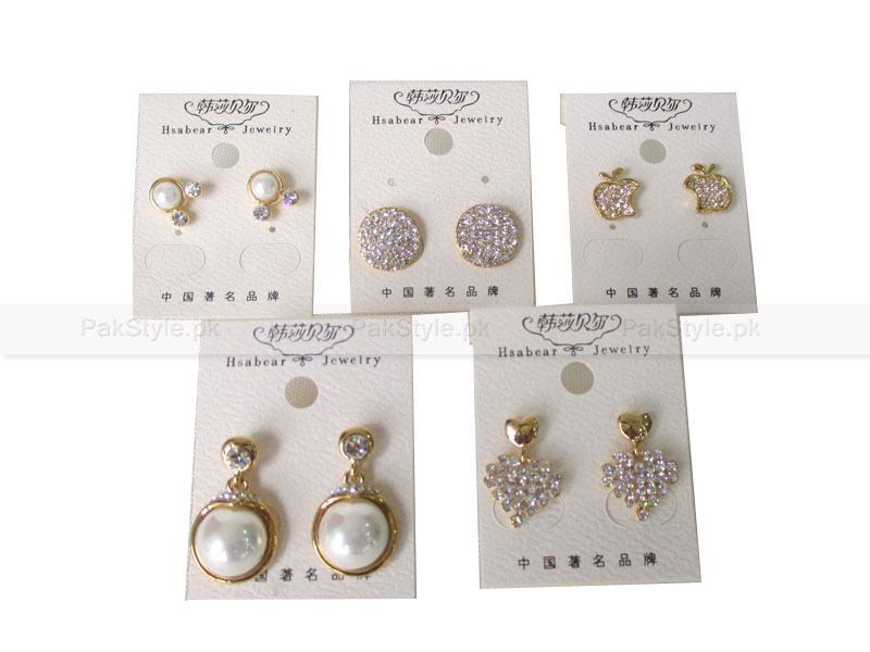 Stone Studded Earrings Bundle Pack Price in Pakistan (M006202 ...