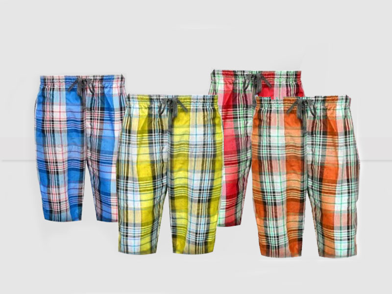 4 Plaid Shorts Bundle Pack