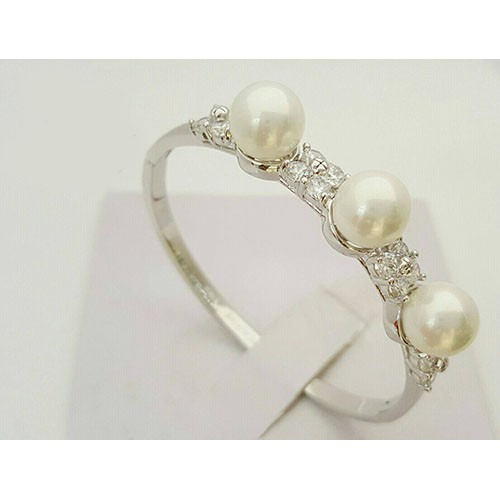 stylish silver pearl ring price in pakistan m006669