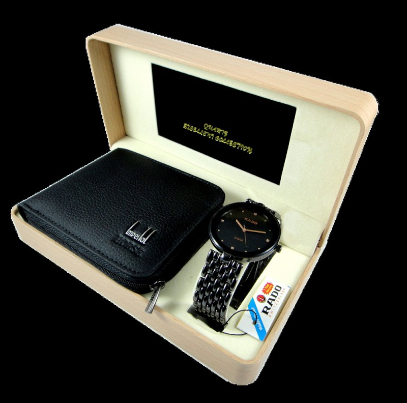 Rado Watch + Leather Wallet (Gift Set for Him) Price in Pakistan ...