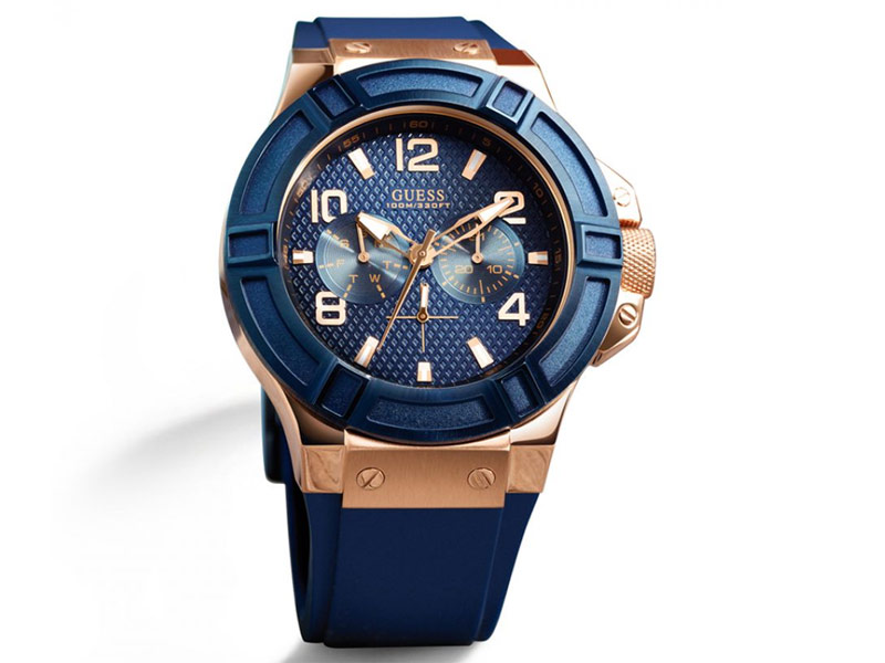 Guess Men's Watch Blue Gold Price in Pakistan
