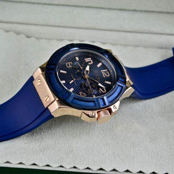 Guess Men's Watch Blue Gold