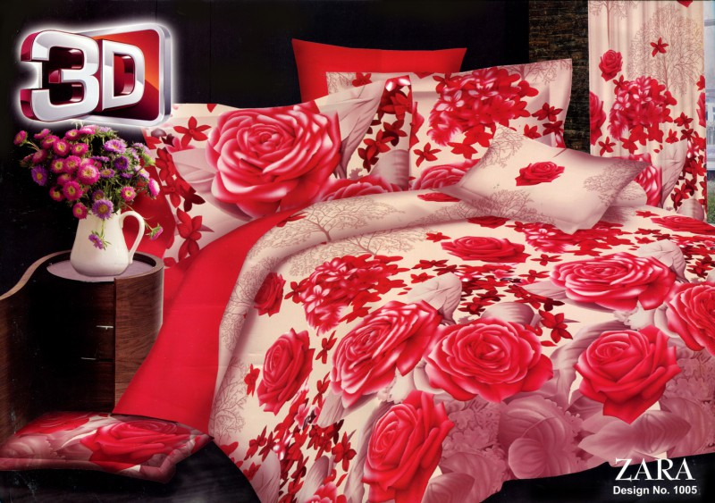 3D Bed Sheets With 2 Pillow Covers