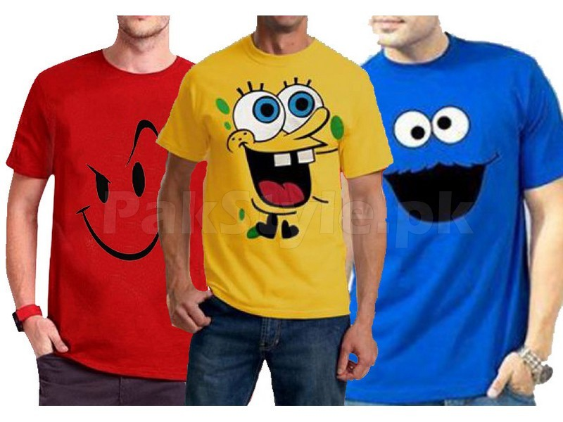 8277176c9aa06 Pack of 3 Funky Logo T-Shirts Price in Pakistan (M007257) - 2019 ...