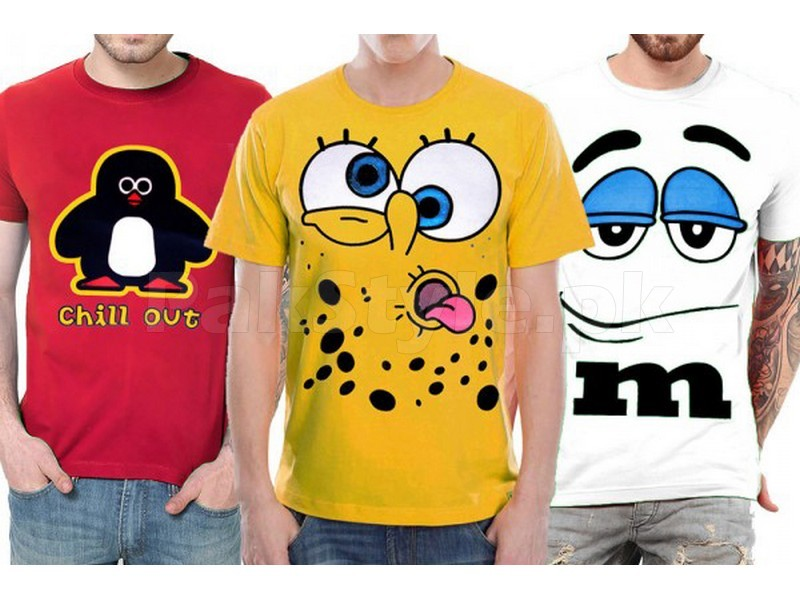 Pack of 3 Graphic T-Shirts Price in Pakistan