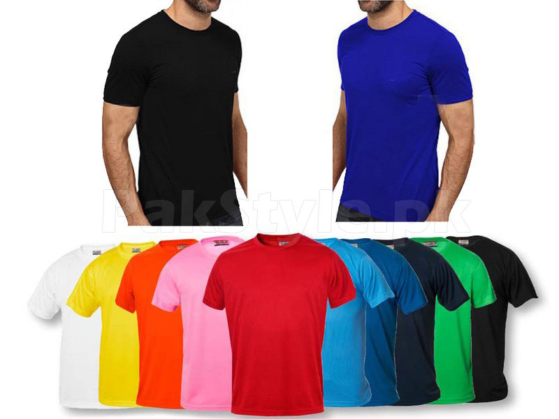 50 Plain T-Shirts on Wholesale Price in Pakistan (M007390) - Check ...