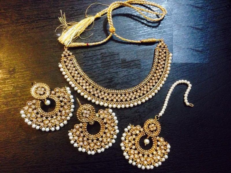 Reet jewellery set in gold polish price in pakistan for New top jewelry nyc prices