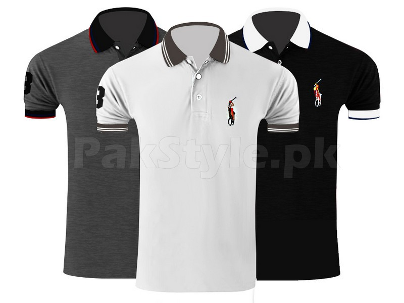 3 ralph lauren polo shirts contrast collar price in
