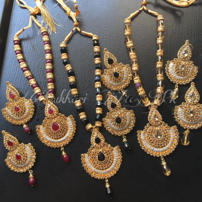 18K Two Tone Gold Plated Mala Set Price in Pakistan M