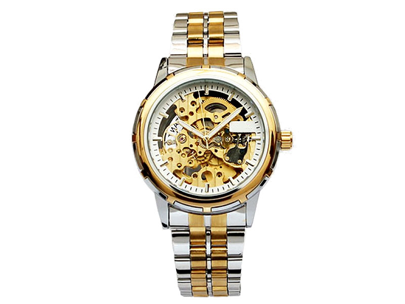 Men's Automatic Skeleton Two-Tone Watch