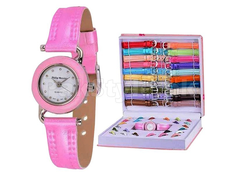 Ladies Interchangeable Watch Set Price in Pakistan