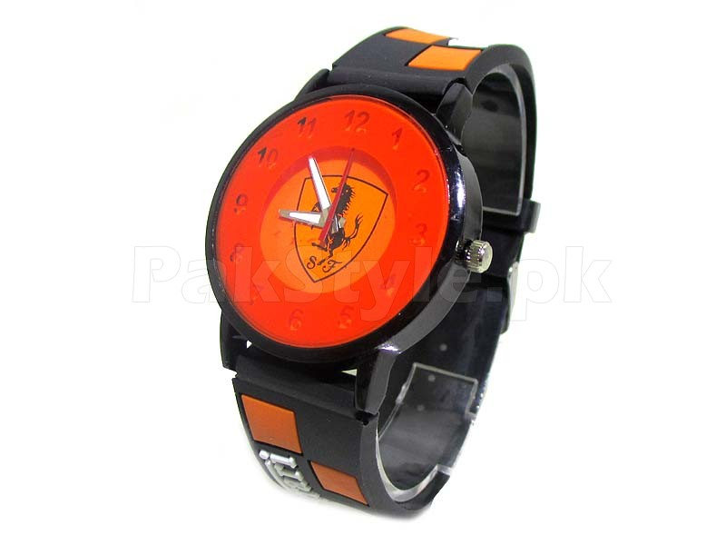 ferrari s watch analog quartz display watches pin men black d