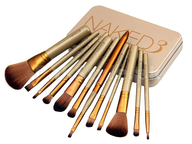 12 Pieces Urban Decay Naked3 Power Brush Set