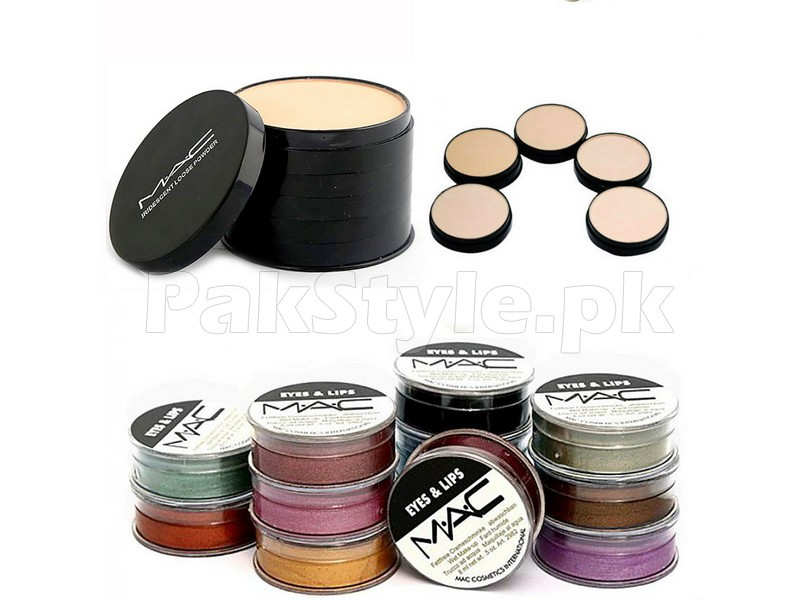 5 in 1 MAC Face Powder + 12 Eye & Lip Liner Price in Pakistan
