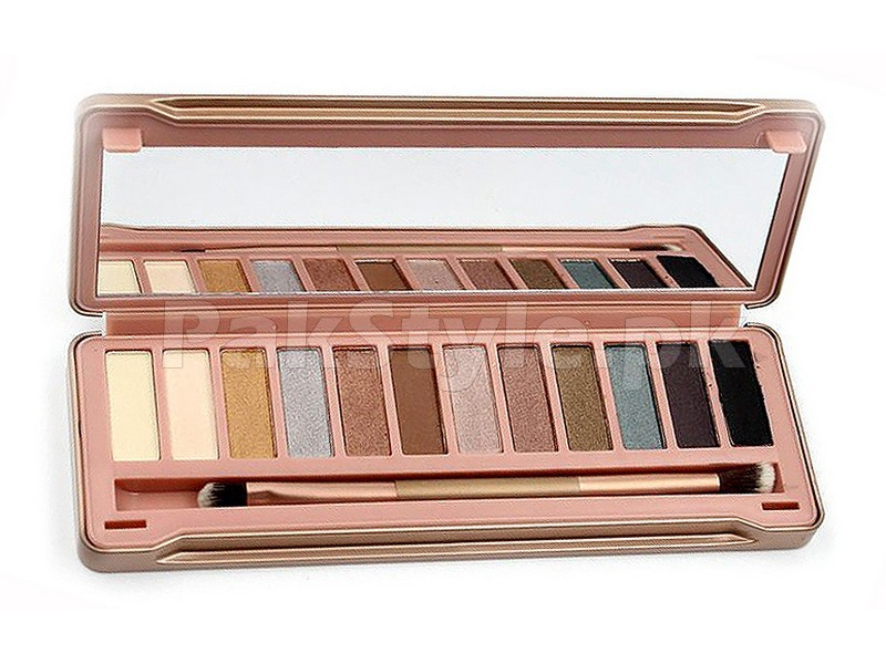 Combo of Naked 8 Eyeshadow Palette + 7 Pcs Brush