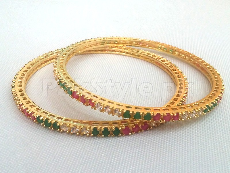 2 Indian AD Bangles Price in Pakistan (M008461) - Prices & Reviews