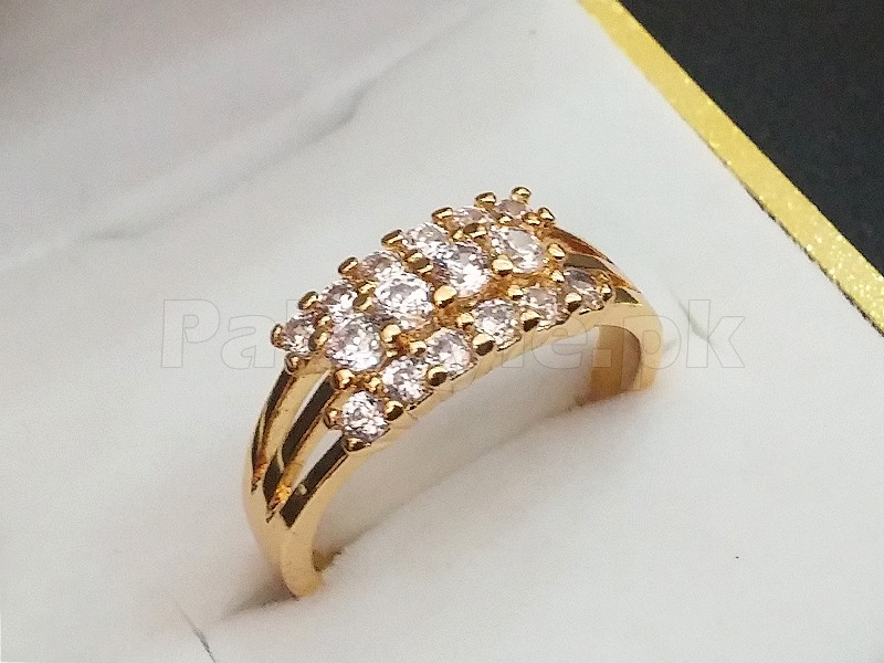 Elegant Gold Plated Zirconia Ring 1 Free Ring Price in Pakistan
