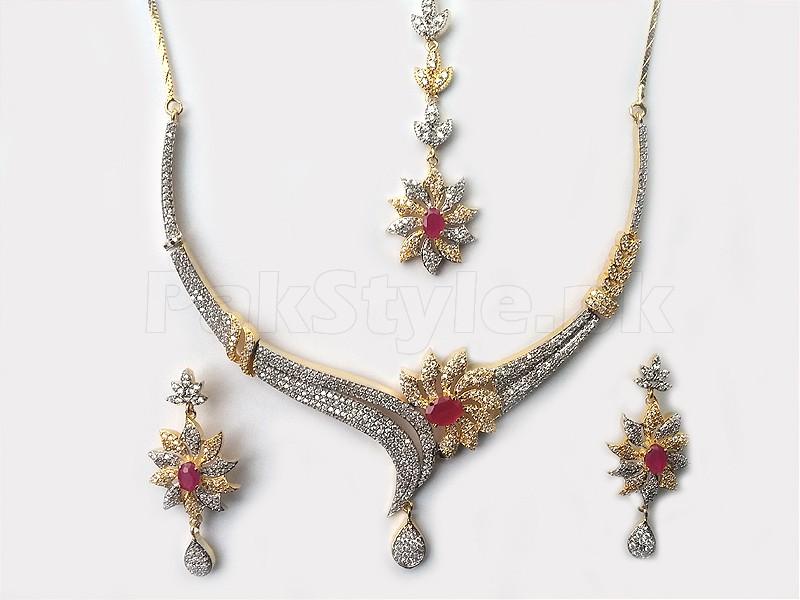 2 Tone AD Jewellery Set Price in Pakistan (M008492) - Prices & Reviews