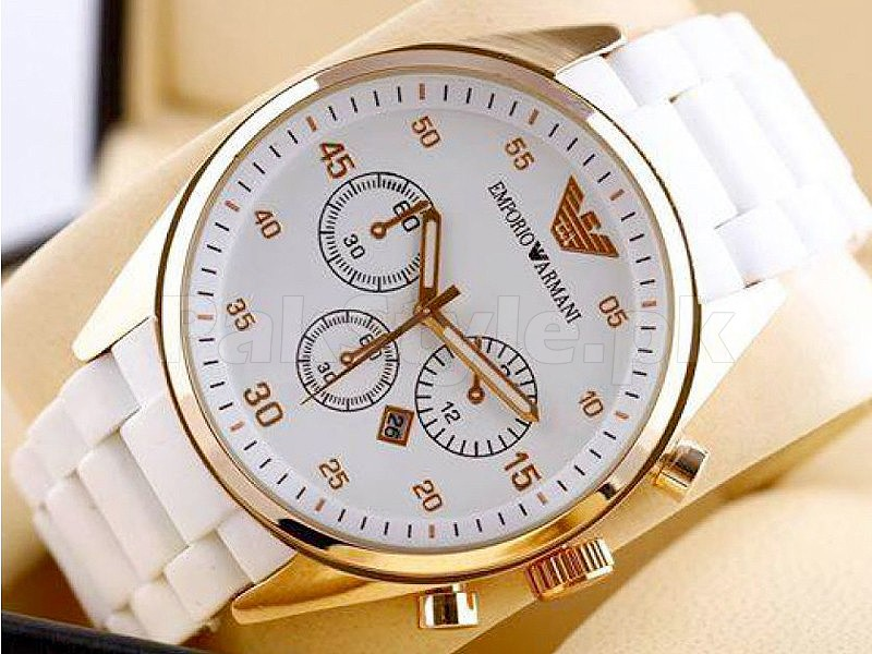 Emporio Armani White Watch in Pakistan