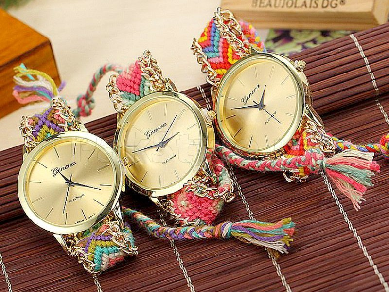 3 Geneva Knitted Watches