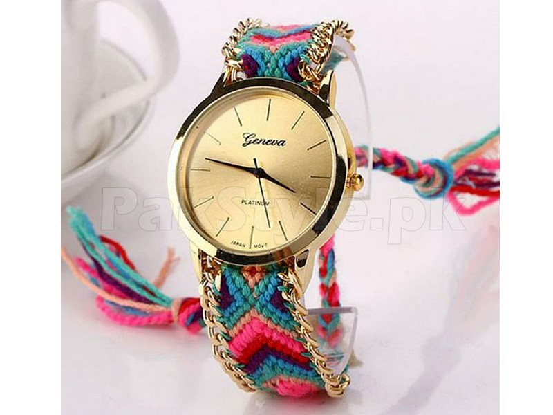 3 Geneva Knitted Watches in Pakistan