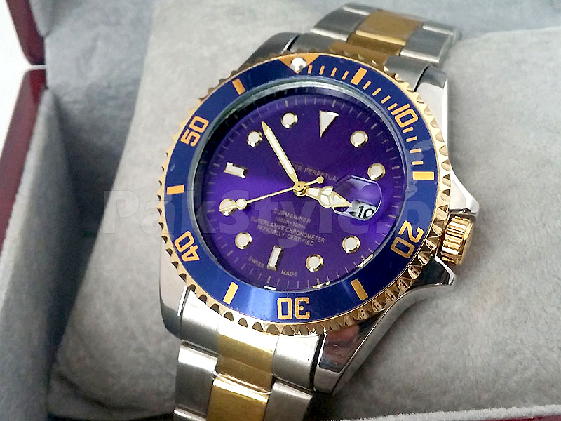 Rolex Submariner Two-Tone - Blue Dial Price in Pakistan