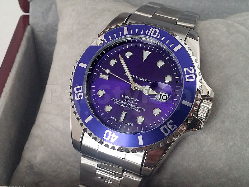 Submariner Silver and Blue Watch