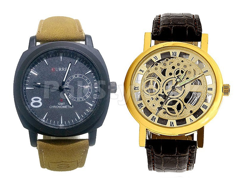 Pack of 2 Men's Watches Price in Pakistan
