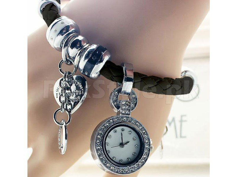 Pack of 2 Multi Charm Bracelet Watches in Pakistan
