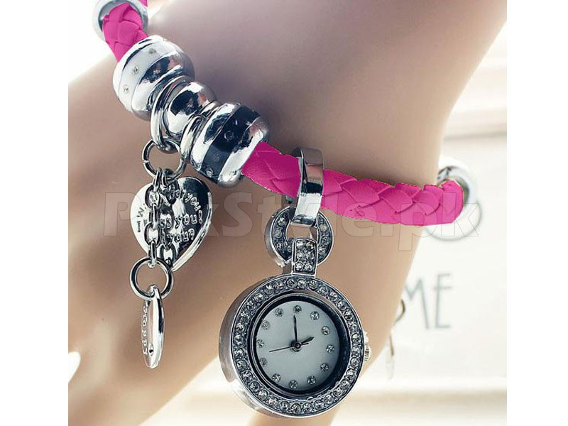 Pack of 2 Multi Charm Bracelet Watches