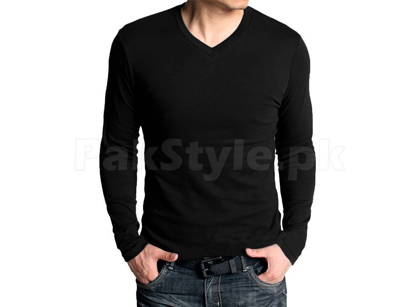 6 V-Neck Full Sleeves T-Shirts