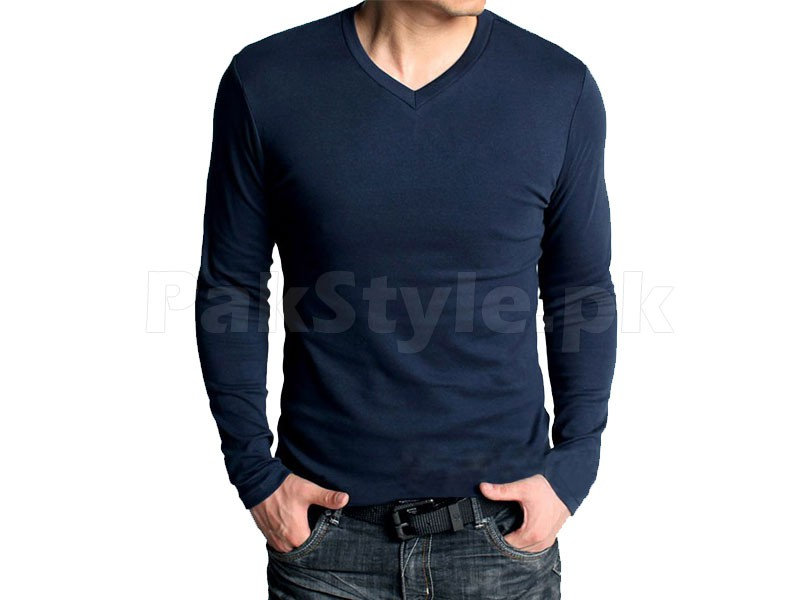 6 V-Neck Full Sleeves T-Shirts in Pakistan