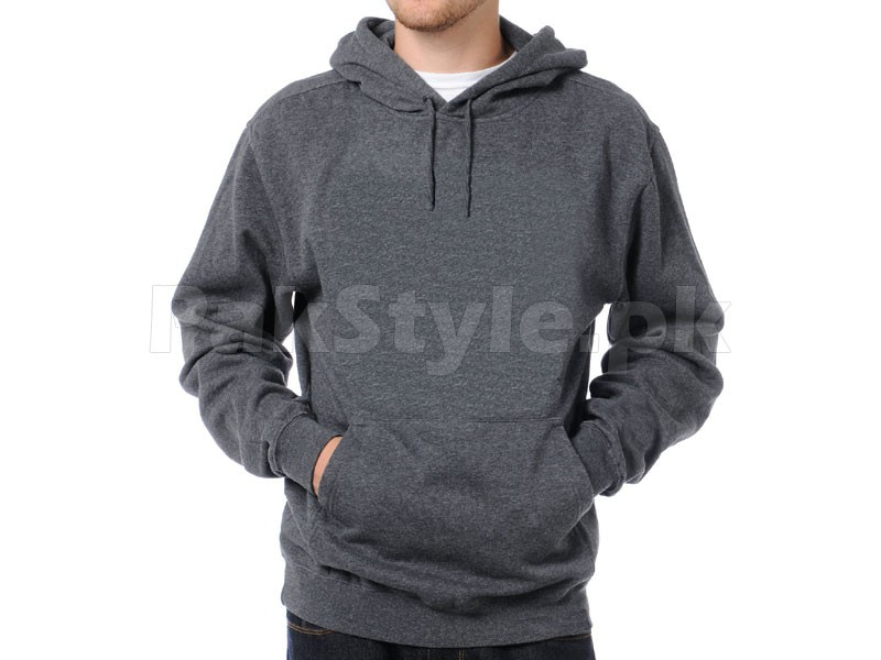 Plain Pullover Hoodie Charcoal Price in Pakistan