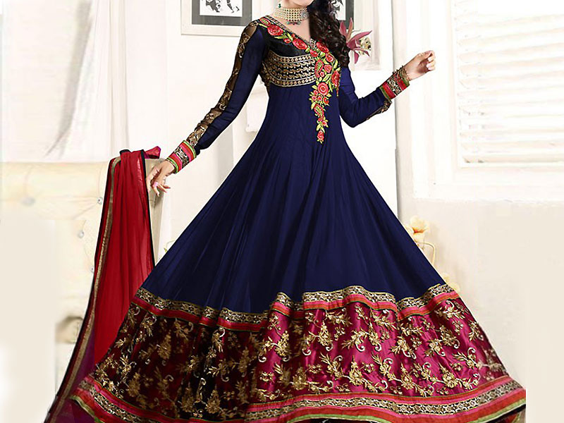 Indian Embroidered Chiffon Anarkali Frock Price in Pakistan