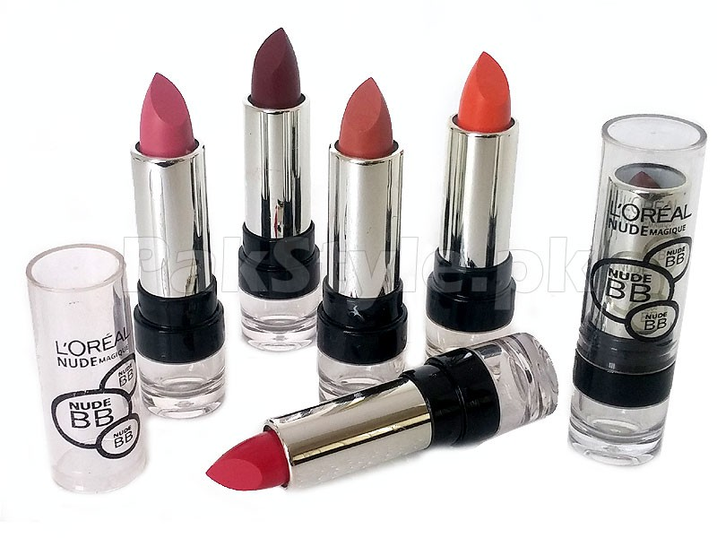 Pack of 6 L'Oreal Nude Magique BB Lipsticks Price in Pakistan