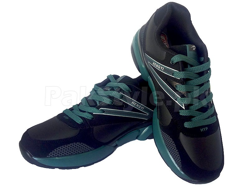 Men's Sports Shoes Black & Green