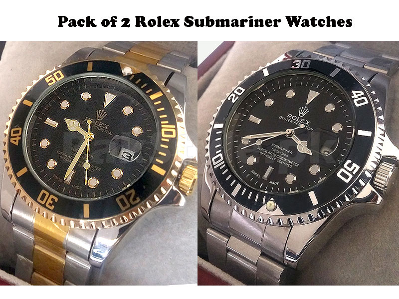 Pack of 2 Rolex Submariner Watches Price in Pakistan