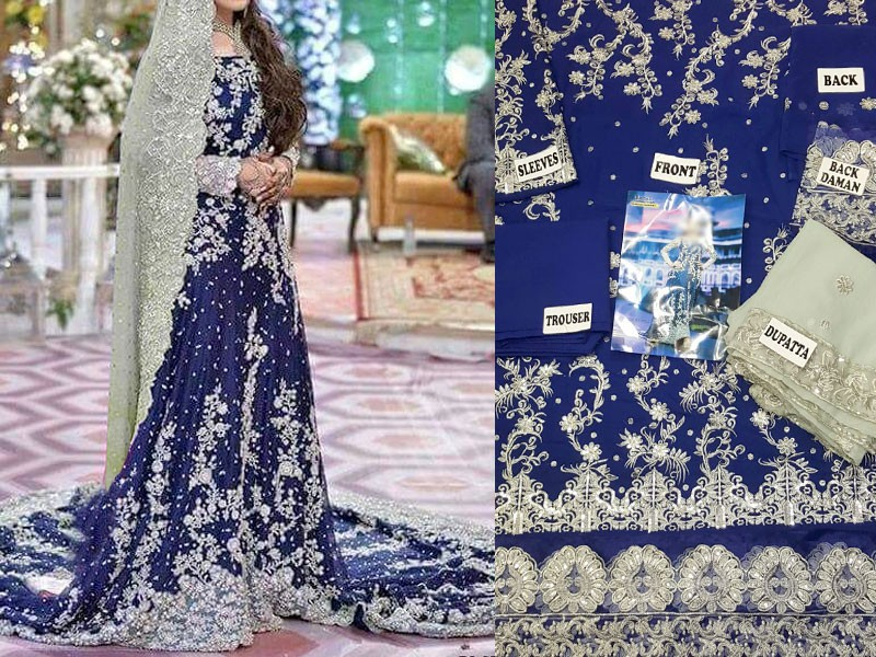 Embroidered Bridal Chiffon Suit Price in Pakistan