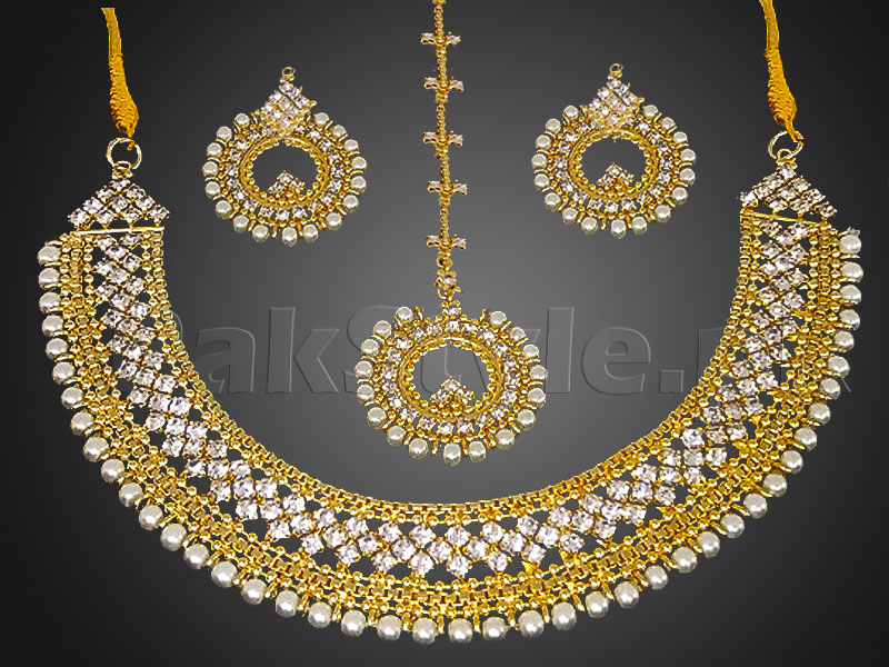 buy mini myntra jewellery stone online sets pearls toned zaveri set studded white gold designer
