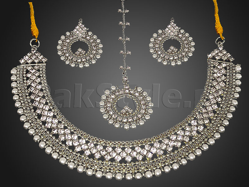 Pearl Silver Jewellery Set