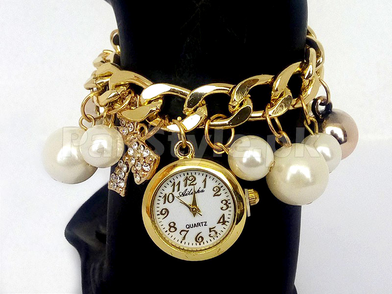 Pearl Bracelet Watch for Girls
