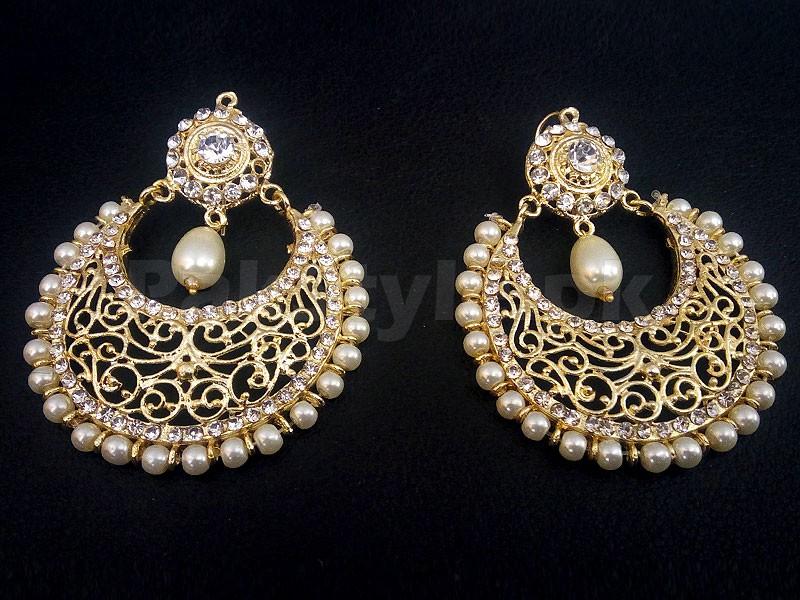La s Pearl Golden Earrings Price in Pakistan M Check