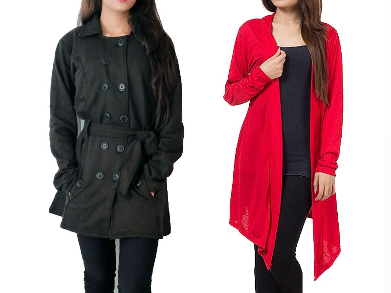 Ladies Coat & Shrug Combo Deal Price in Pakistan