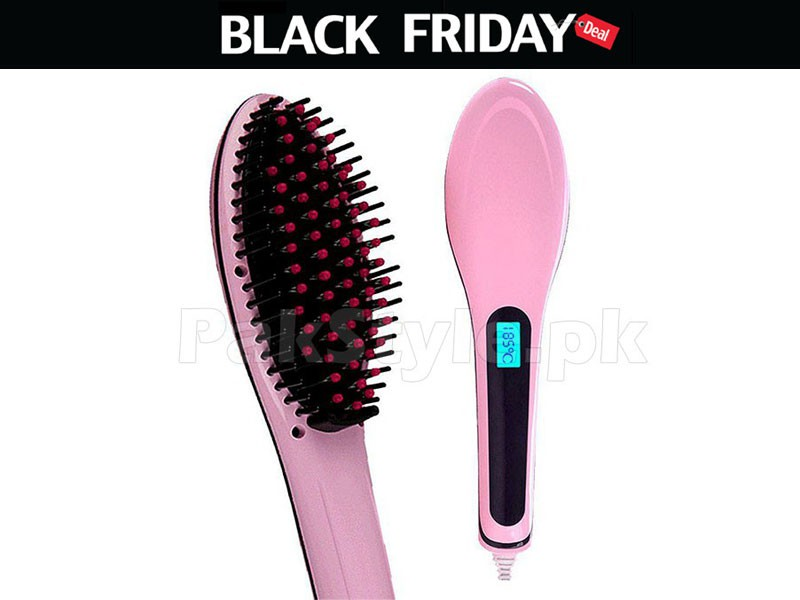 Hair Straightener Brush Black Friday Deal Price in Pakistan